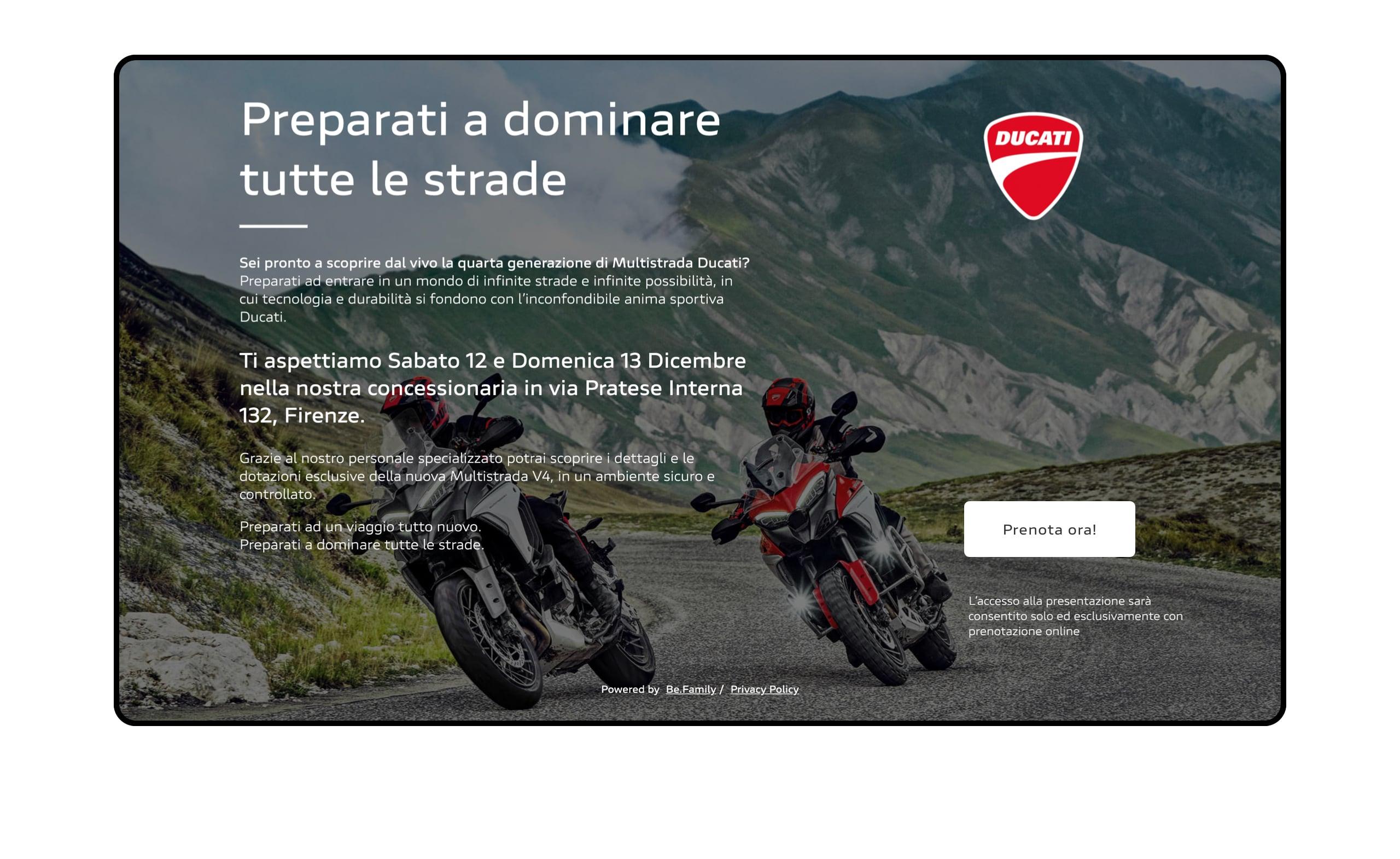 Eventi Ducati Home 02