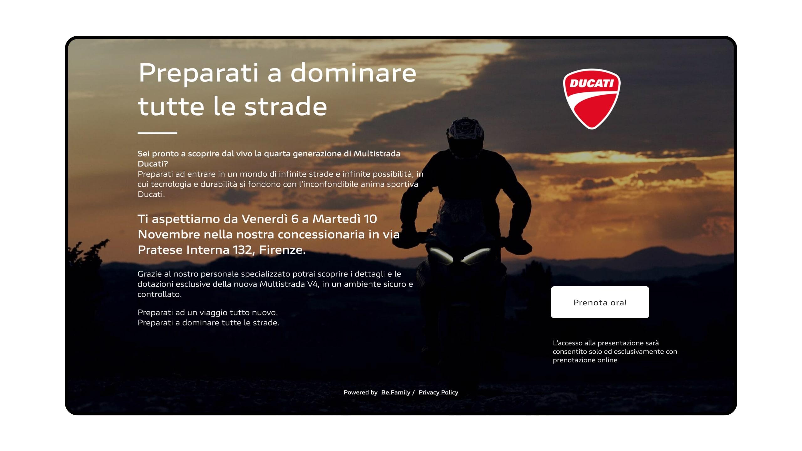 Eventi Ducati Homepage