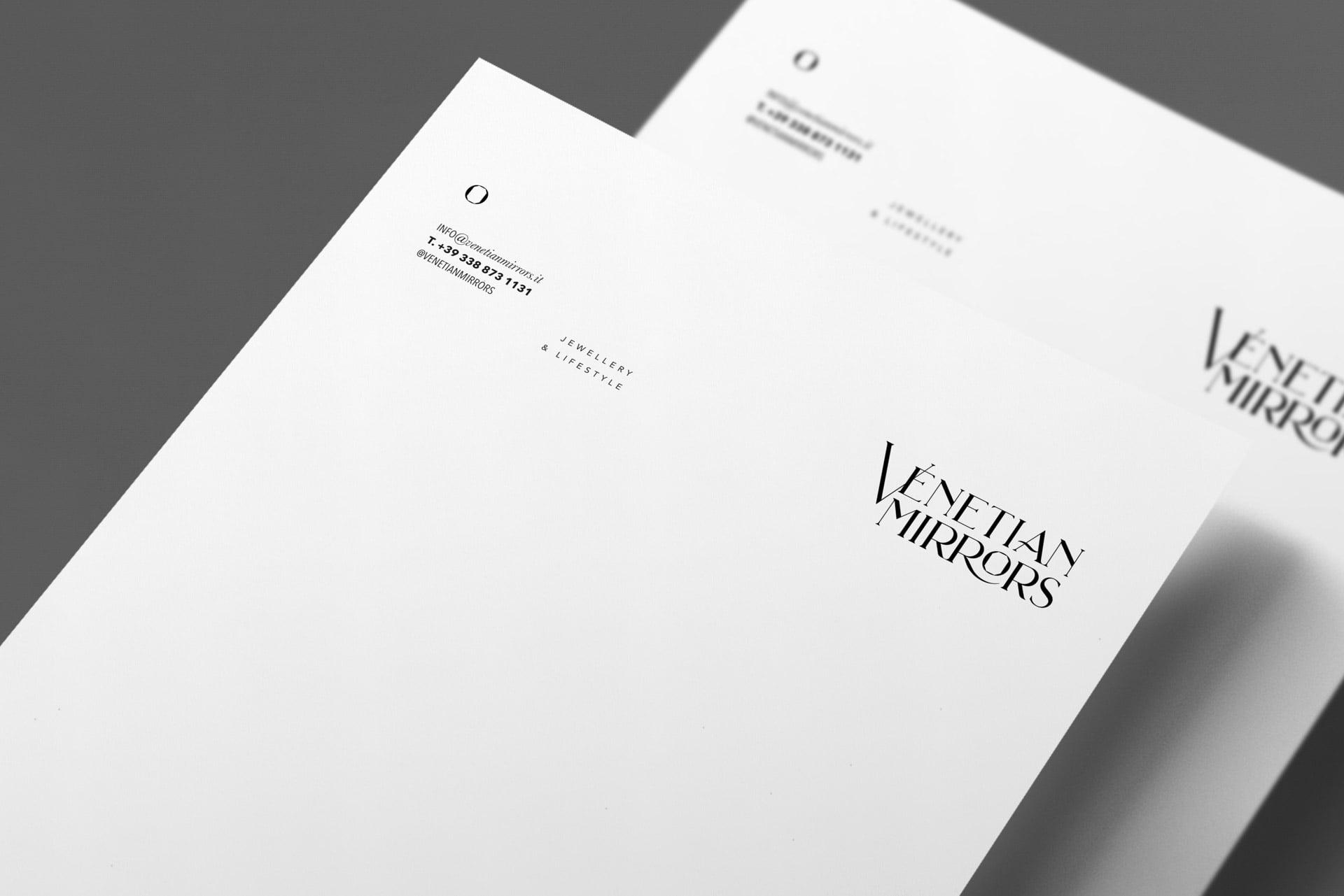 Venetian Mirrors letterhead