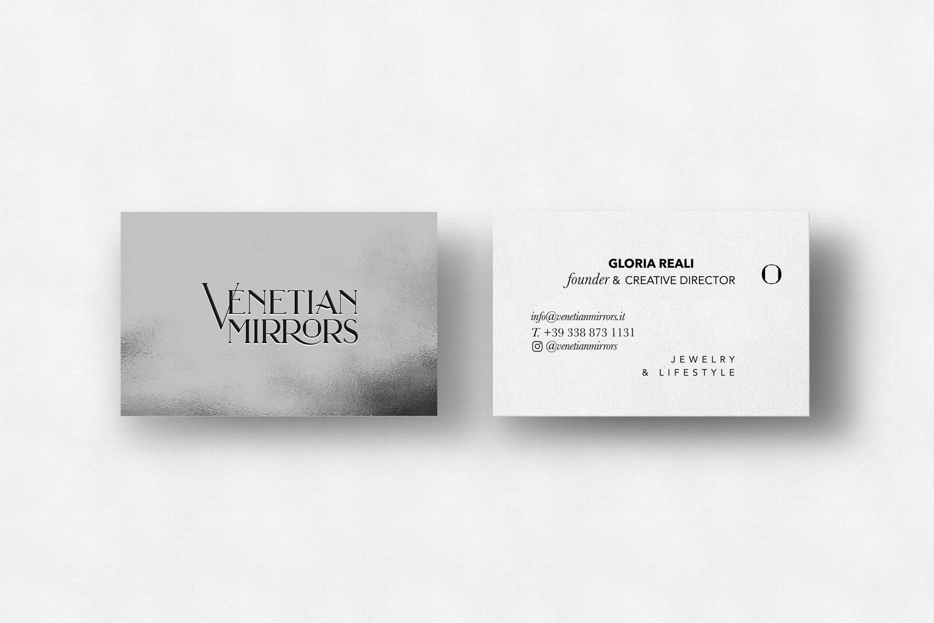 Venetian Mirrors Business Card