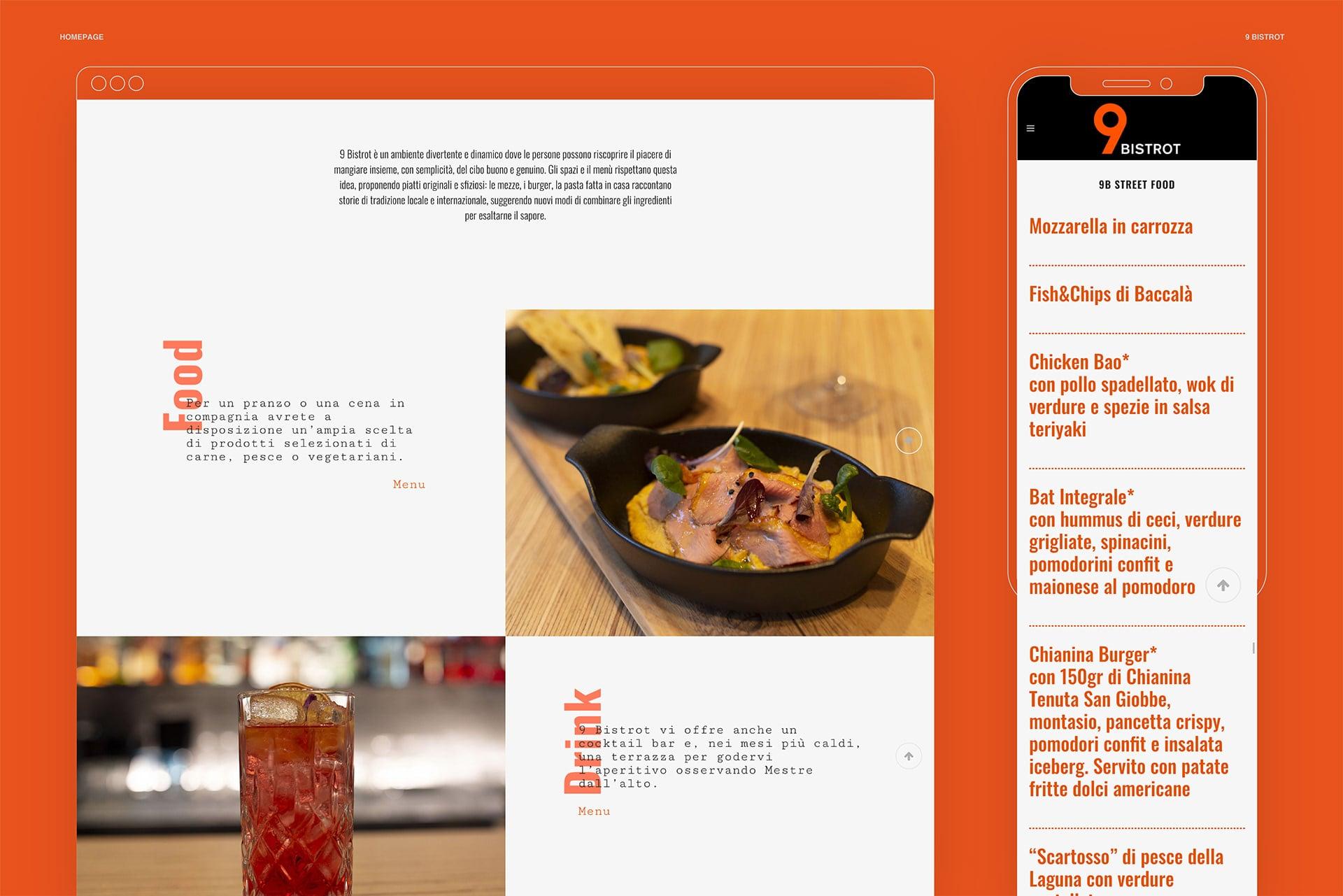 9 Bistrot website