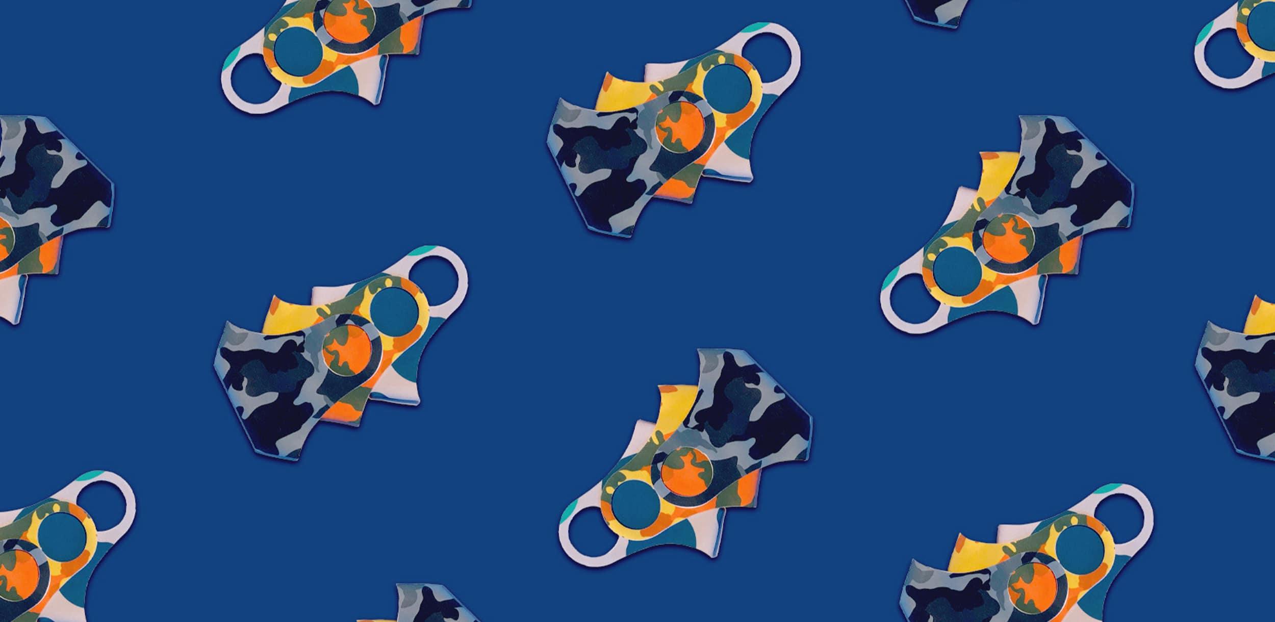 Induo pattern blue