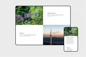 V-Garden website sections