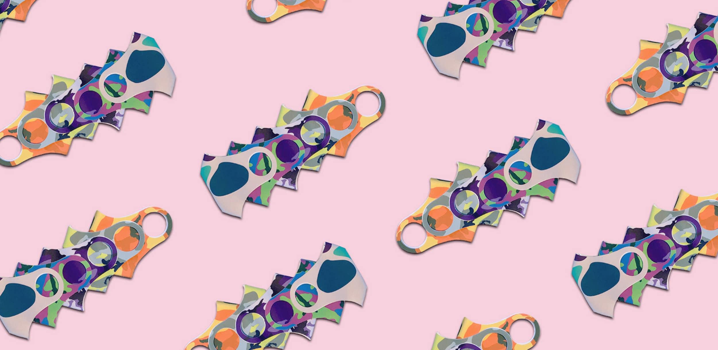 Mask pattern pink Induo
