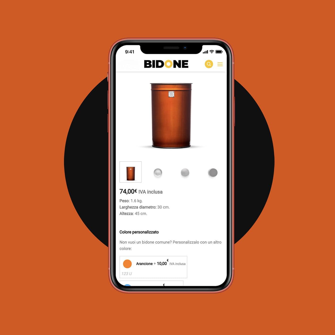 Scheda prodotto Bidone da mobile