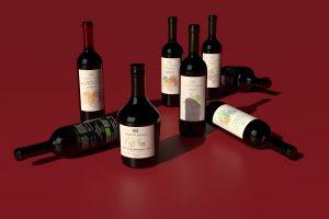 Bottiglie di vino e olio Corte Bravi
