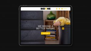 Bidone Homepage da tablet