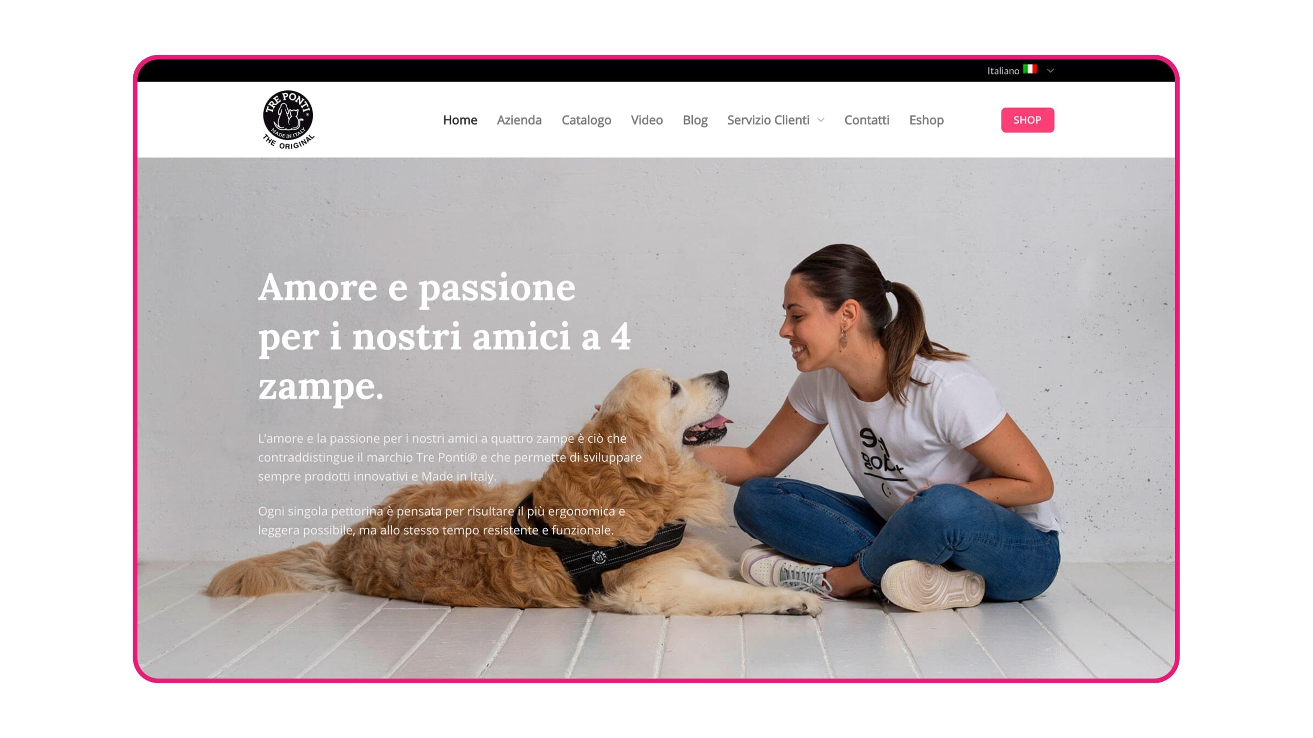Tre Ponti Homepage